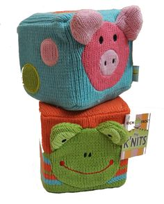 Knit blocks and toys by Rich Frog @CottageChicClt