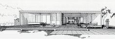 case study houses drawings - Google Search