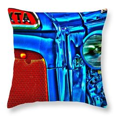 Tractor Blues Throw Pillow by Randi Grace Nilsberg