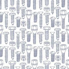 seamless pattern with sketch screws seamless pattern with sketch screws — стоковая векторная графика и другие изображения на тему Болт Стоковая фотография