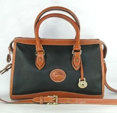Authentic Dooney and Bourke All Weather Leather Classic Satchel British Tan