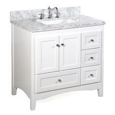 36 Inch Bathroom Vanity, 36 Inch Vanity, Bathroom Vanities, Marble Bathrooms, Easy Bathrooms, Cream Bathroom, Bathrooms Decor, Concrete Bathroom, White Bathrooms