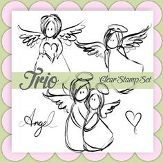 I LOVE these angel stamps!!
