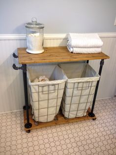 DIY Laundry Cart - SB Designs