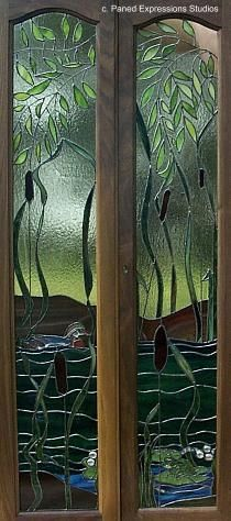 Custom stained glass windows, etched glass and art glass panels