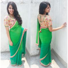 mirror work sarees and blouses - Google Search