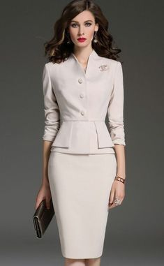65 Unique Spring Outfits Ideas For Women Elegant Outfit, Classy Dress, Classy Outfits, Elegant Dresses, Classy Lady, Elegantes Business Outfit, Elegantes Outfit Frau, Professional Outfits, Work Attire