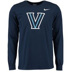 Men's Nike Navy Villanova Wildcats Big Logo Long Sleeve T-Shirt