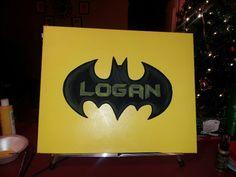 Batman logo for a boys room Batman Logo, Superhero Logos, Batman Bedroom, Bat Signal, Boy Room, Little Boys, Arts And Crafts, Logan, Rooms