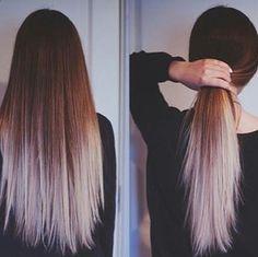 121 Best Dip dyed images in 2016 | Long hair styles, Hair