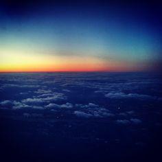 Sunrise from my plane ride.