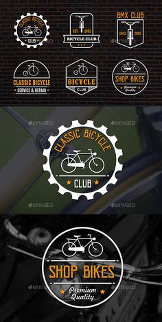 Classic Bicycle Badge & Logo Templates Vector EPS