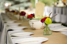 Table setup for a wedding at The Farmette in Lyons, CO - http://www.lyonsfarmette.comweinrauchphoto.com