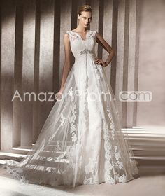 Awesome Sheath/Column Floor-Length  Bateau Chapel Tulle  Wedding Dresses 2014 Spring Trends
