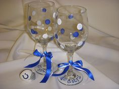 Indianapolis Colts Wine Glasses Indianapolis by MoreThanSeashells