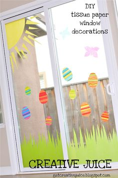 This could be fun - tissue paper and liquid starch for window clings