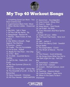 Get inspired to move by Anytime Fitness staffer, Debbie Pias and her top 40 favorite workout songs o Music Mood, Mood Songs, Song Suggestions, Song Playlist, Work Out Playlist, Party Playlist, At Home Workouts, Song Workouts, Good Workout Songs