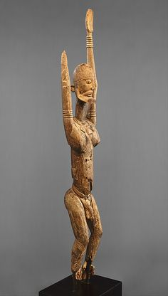 Dogon Male Figure with Raised Arms | Metropolitan Museum of Art