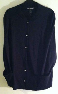Woman Cardigan Sweater Plus Size 1X new! #NinaLeonard #Cardigan