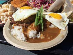 Hawaiian food in West Seattle! Loco moco from Marination Ma Kai.