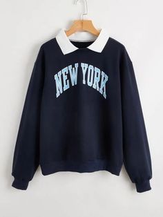 Teen Fashion Outfits, Outfits For Teens, Cute Casual Outfits, Pretty Outfits, Stylish Hoodies, Collared Sweatshirt, Sweat Shirt, Cute Shirts, Romwe