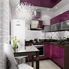 ideas for unique door interior cupboards Simple House Interior Design, Kitchen Decor, House Interior, Purple Kitchen, Interior, Kitchen Design, Kitchen Room, Kitchen Decor Rules, Home Decor