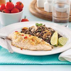 Filets de vivaneau, crumble piment thaï et lime - Soupers de semaine - Recettes 5-15 - Recettes express 5/15 - Pratico Pratique
