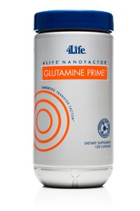 4Life® NanoFactor® Glutamine Prime®  Rich energy source that helps fuel immune cell activity and provides the building blocks of glutathione, an important antioxidant!