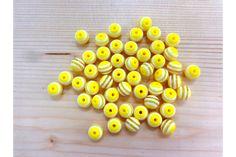 Χάντρα Νο10 27314Y  Χάντρες κίτρινες με λευκή ρίγαΜέγεθος: 10mmΣυσκευασία 50 τεμαχίων. Stud Earrings, Beads, Jewelry, Beading, Jewlery, Bijoux, Studs, Schmuck, Stud Earring