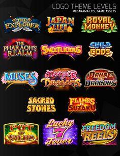 ArtStation - Logo Theme levels, Isaiah Bolima Typo Design, Game Logo Design, Game Font, Mobile Logo, Concept Art Tutorial, Splash Screen, Game Title, Game Concept, Game Assets