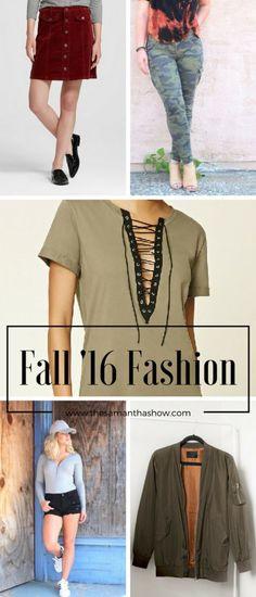 All the Fall Feels: Fall 2016 Fashion faves.