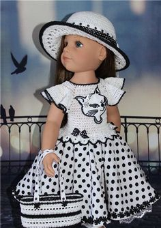 VK is the largest European social network with more than 100 million active users. Our goal is to keep old friends, ex-classmates, neighbors and colleagues in touch. Crochet Girls Dress Pattern, Crochet Doll Dress, Crochet Doll Clothes, Knitted Dolls, Girl Doll Clothes, Doll Clothes Patterns, Children Clothes, Girl Clothing, American Girl Crochet