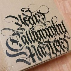 3 Years of Calligraphy Masters!! Knowledge and inspiration, adventure and friends. In lettering united! @calligraphymasters | marker used - @liquitexofficial