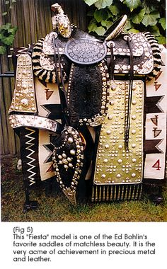 Bohlin Fiesta model parade saddle