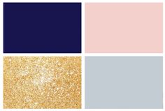 Wedding colors - Navy, Blush, Grey, and Gold accents.
