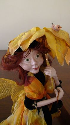 FREE SHIPPING Art doll from paper clay Mrs. by DavydovaNatalia on Etsy