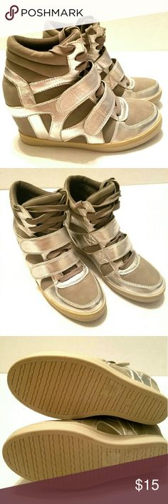 Silver Sneakers Wedges Never worn. Sacred Heart Shoes Wedges