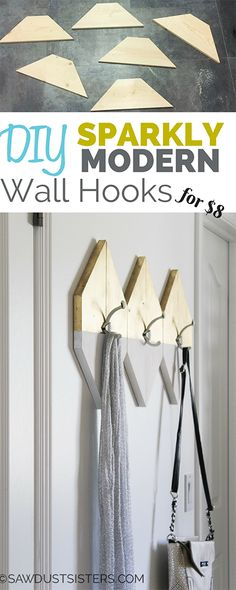 Modern and Sparkly! I need these for my entryway!!