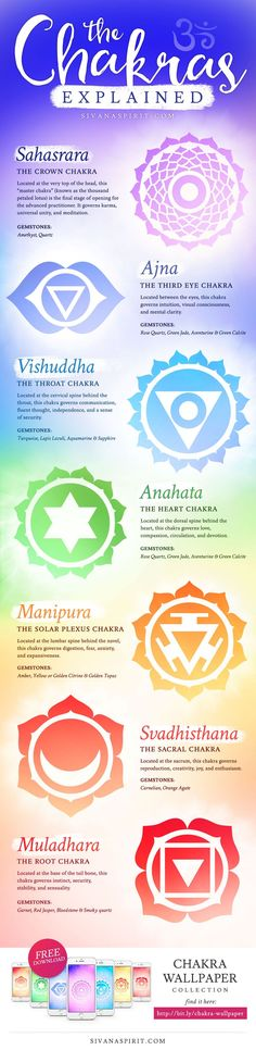 This beautiful infographic explains chakras in an easy to understand format.