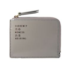 Box Currency Wallet - Cement