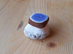 Genuine sea pottery  1 unusual piece,collectible beach pottery,blue white…