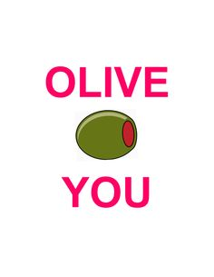 My Hubby loves olives, might through a can in his carepackage with this cute printable :)