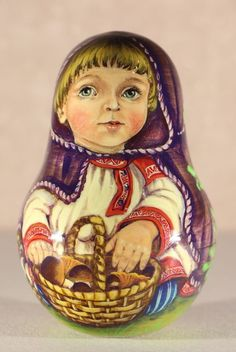 Roly Poly hand painted by the artist Olga Tolstikhina