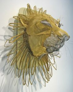 "Janet Brome, ""Lion"" - screen & wire sculpture"