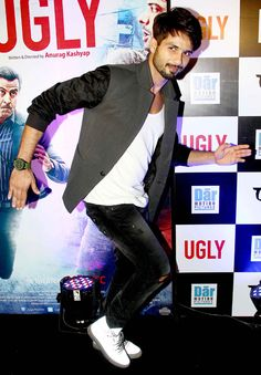 Shahid Kapoor at special screening of 'Ugly'. #Bollywood #Fashion #Style #Handsome