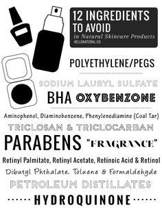 12 Ingredients to Avoid in Makeup + Skincare Products
