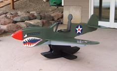 Airplane Rocker - P40 Warhawk - by Gary @ LumberJocks.com ~ woodworking community