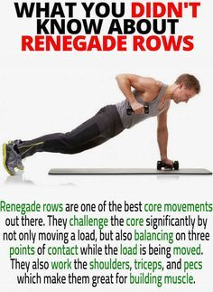 Pin By Heavy Muscle On Fitness In 2020 Renegade Rows Stretches For Workouts Dumbbell Exercises For Women