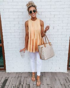 Summer Fashion Tips Cute Casual Spring Outfits Trends Pretty Looks Looks Chic, Looks Style, My Style, Mode Outfits, Casual Outfits, Fashion Outfits, Jean Outfits, Casual Summer Outfits With Jeans, White Jeans Outfit Summer