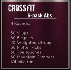 Cross #Fit 6 pack #Abs routine